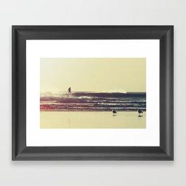 Sunset Surfers Framed Art Print