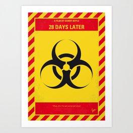 No1029 My 28 Days Later minimal movie poster Art Print
