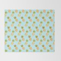 Blue Tropical Pineapple Pattern by tanyalegere
