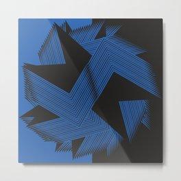 Angular Blue Metal Print