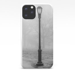 Lamp Post in the fog iPhone Case