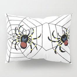 two big Spider Halloween web Pillow Sham