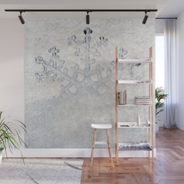 Snowflakes frozen freeze Wall Mural