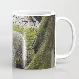 One True Friend - Acrylic Painting - Two Sheep Coffee Mug