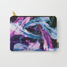 Blue and Magenta Abstract Wisps Carry-All Pouch