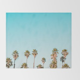 Palm trees in the sun Throw Blanket