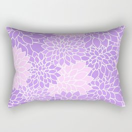 Purple Lavender Dahlias Rectangular Pillow