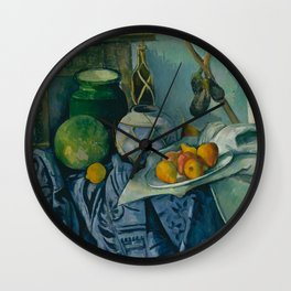 "Paul Cezanne ""Still Life with a Ginger Jar and Eggplants"" Wall Clock"