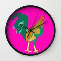 greg guillemin Wall Clocks featuring Greg by caseysplace