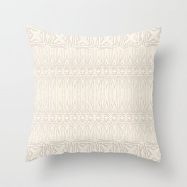 Cream and Coffee Chenille Digital Pattern Throw Pillow