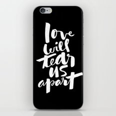 love will tear us apart iPhone Skin