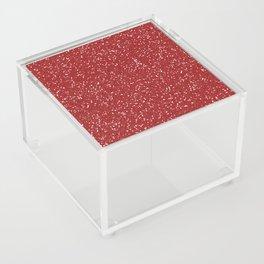 Red Glitter I Acrylic Box