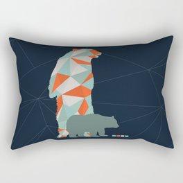 Geo Bear Rectangular Pillow