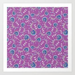 Delicate swirls Pixie Garden design Art Print