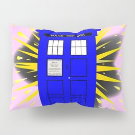 British Police Box With Abstract Explosion Pillow Sham