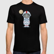 Astronaut Mens Fitted Tee MEDIUM Black