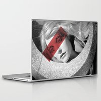 band Laptop & iPad Skins featuring Red band by SpaceoperaImage