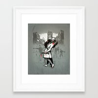 zombies Framed Art Prints featuring Zombies by Ronan Lynam