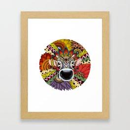 TRIBAL COW Framed Art Print