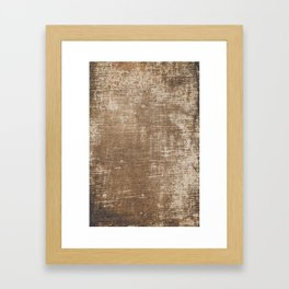 Cement Weathered Brown Abstract Photograph Framed Art Print