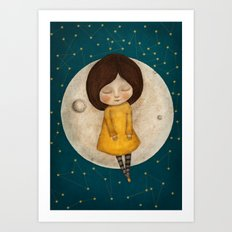 Moon Song Art Print