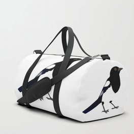 Black and white Magpie Duffle Bag