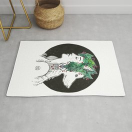 Wolves' moon Rug