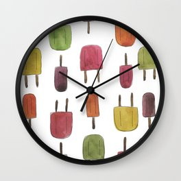 Popsicle Print Wall Clock