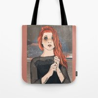 hayley williams Tote Bags featuring Hayley by Clementine Petrova