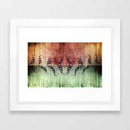 Jail Birds No. 3, Showdown In The Yard Framed Art Print