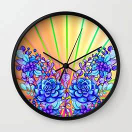 Psychedelic Butterfly Wall Clock