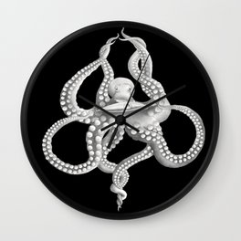 Giant Octopus and the Nautilus - 20000 Leagues Under the Sea Wall Clock
