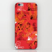 snoopy iPhone & iPod Skins featuring SNOOPY AAUGH! by d.ts