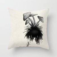 mushrooms Throw Pillows featuring Mushrooms by Nicklas Gustafsson