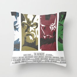 Vintage Avengers Film Poster Throw Pillow