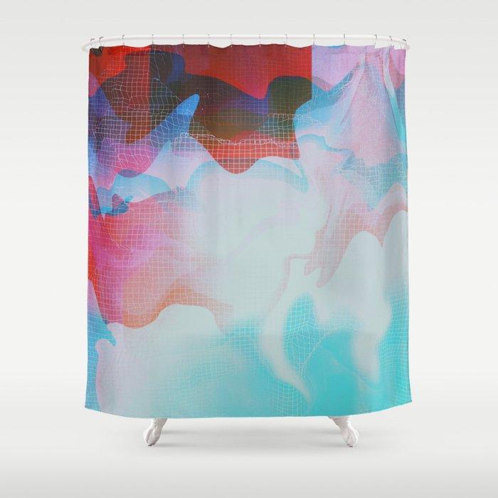 Glitch 29 Shower Curtain