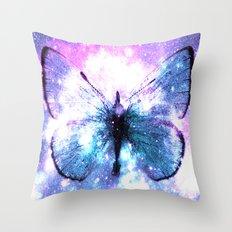 Celestial Butterfly Pink Lavender Aqua Throw Pillow
