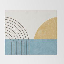 Sunny Ocean Horizon Throw Blanket