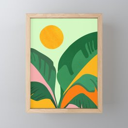 Things Are Looking Up / Tropical Greenery Framed Mini Art Print