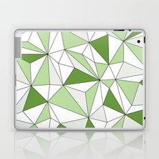 Geo - gray, green and white. Laptop & iPad Skin