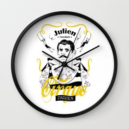 Julien l'acrobate Wall Clock