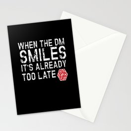 When The DM Smiles Nerd Stationery Cards
