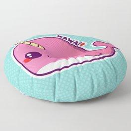 Kawaii Pink Narwhal Floor Pillow