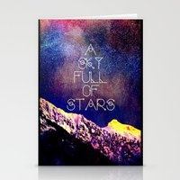 coldplay Stationery Cards featuring A Sky Full of Stars - for iphone by Vertigo