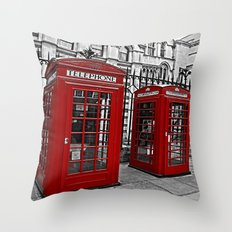 London phone home Throw Pillow