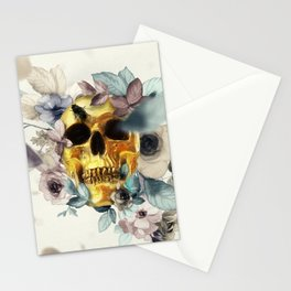 Floral Skull Stationery Cards