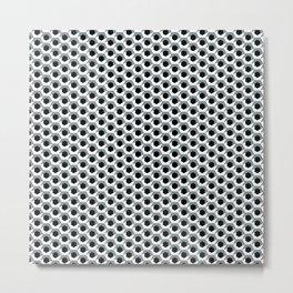 Hex shadow pattern  Metal Print