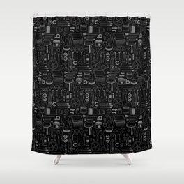 BIECTR_COMBO_NOIR-GRIS Shower Curtain