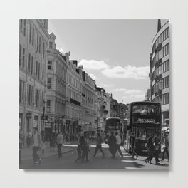 The St. Paul Bustle, London Metal Print