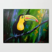 toucan Canvas Prints featuring Toucan by OLHADARCHUK